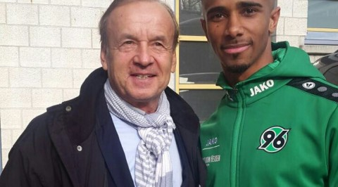 Rohr meets with Super Eagles, Bazee, in Germany