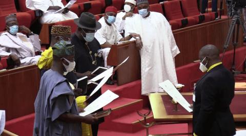 Senators: Seriake Dickson, 3 Others Sworn-In