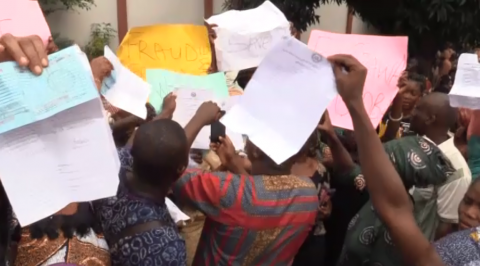 Traders protest in Abeokuta