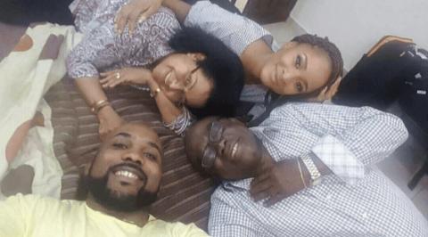 BankyW shares family photo with Adesua