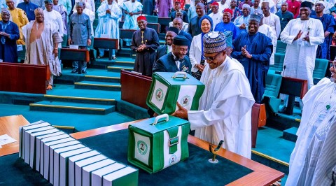 Buhari presents N10.33Trn budget before NASS