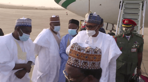 President Buhari in Daura on a Four-Day Official Visit