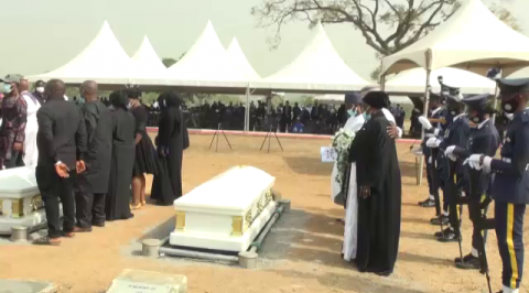 Airforce Buries Officials Who Died in Sunday's Helicopter Crash