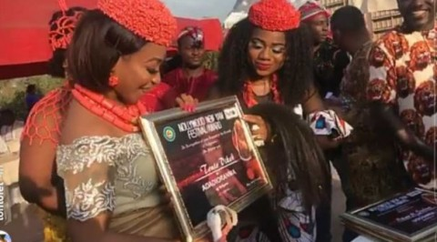 Tonto Dikeh endowed with honorary title