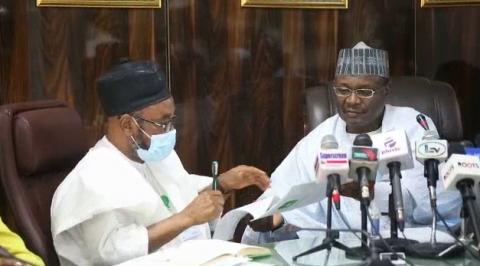 INEC Chairman Hands Over