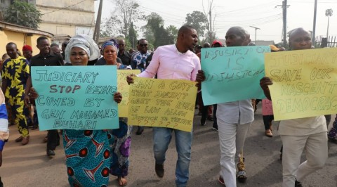 Imo PDP Protest over Supreme Court Judgement