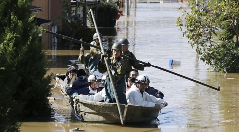 Japan deploys military rescuers as deadly storm hits