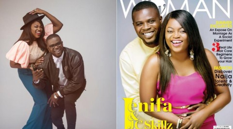 Funke Akindele & husband look dashing on cover page