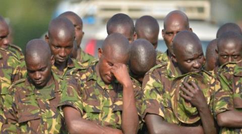 Bomb kills five soldiers near border
