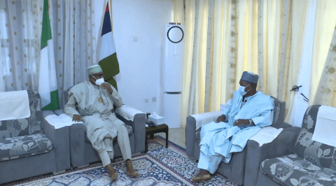 Gov Masari Briefs President Buhari on Kidnapped School Children