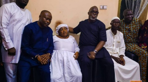 NFF President visits Family of Late Footballer.