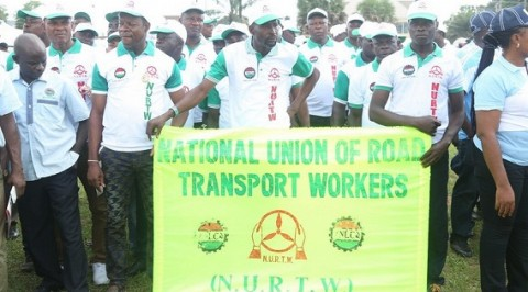 NURTW Members Lament Bad State of Road.
