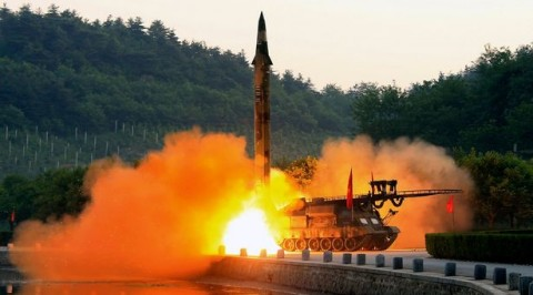 North Korea fires land-to-ship missiles