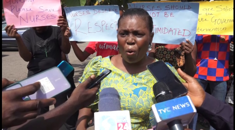 Nurses Protest Sack of Colleagues, Beg Abiodun for Reinstatement