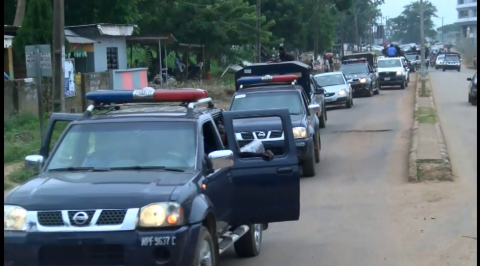 Ogun police embark on show of force over protest