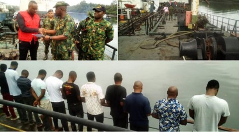 Oil Theft: Navy FOB Bonny Hands Over Vessel and 11 Suspect to EFCC