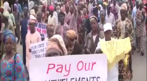 Osun pensioners protest unpaid pension, gratuity