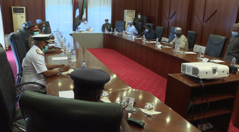 Buhari Meets New Service Chiefs
