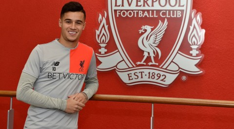 Philippe Coutinho signs five-year Liverpool deal