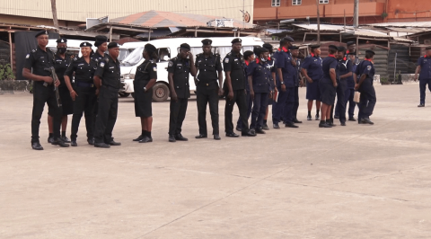 #EndSARS Protest: Police Personnel Deployed at Strategic Places in Abeokuta
