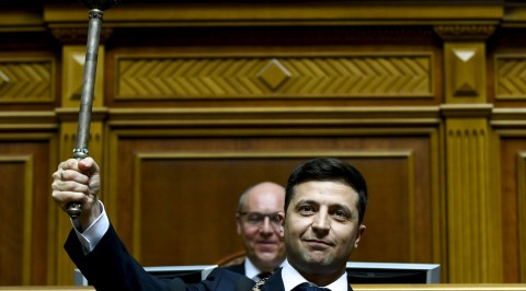 Comedian Sworn in As Ukraine President