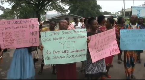NASU, SSANU Protest in UI