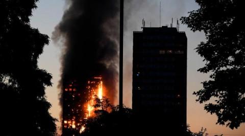 Fire engulfs 24-floor tower block in London