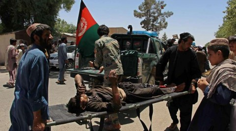 At least 12 Afghan police killed in suicide bomb