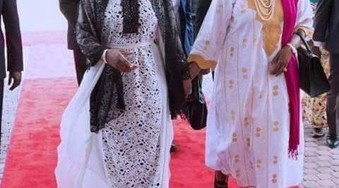 Aisha Buhari rocks $4490 caftan dress