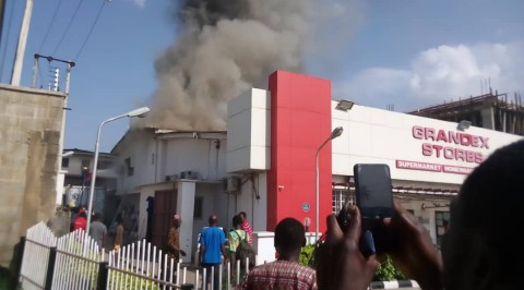 Fire Razes Ajimobi Wife's Supermarket in Ibadan