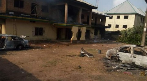 Anambra Youths Set Police Station Ablaze over Extrajudicial Killing