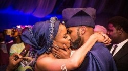 Fans react to Banky W's post revealing Adesua's nude
