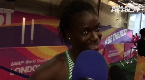 Nigeria Glory disqualified from 400M hurdles