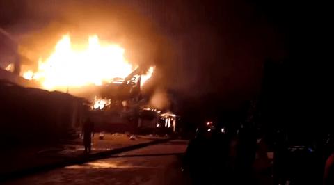 Fire Razes Oba Market in Benin