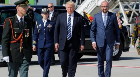 Trump arrives Brussels-capital region