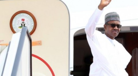 President Buhari arrives Hague