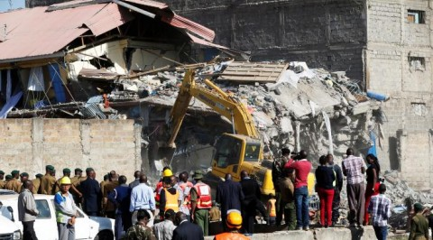 Building collapses in Kenyan capital