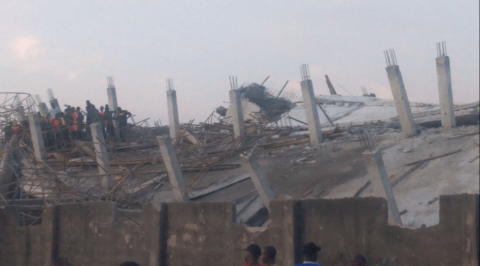 8 Story Building Collapsed in Imo, Many Trapped