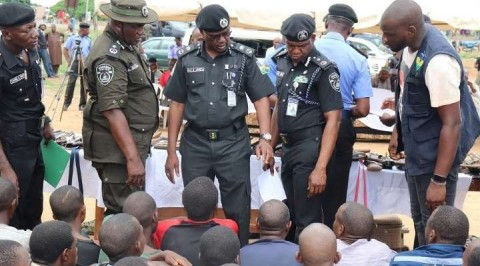 Police Parade Suspected Female Armed Robber, Kidnappers in Delta