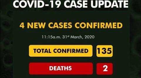 Nigeria records four new cases of COVID-19