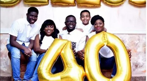 JJC Skillz @ 40: Funke Akindele shares first family photos