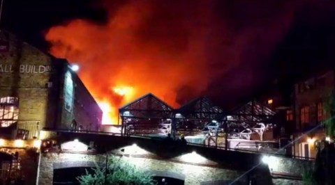 Fire engulfs London Camden market