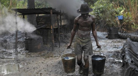 Soldiers raid, occupy illegal refinery in Delta