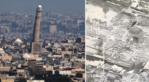 US, Iraq- ISIS blew Mosul historic mosque