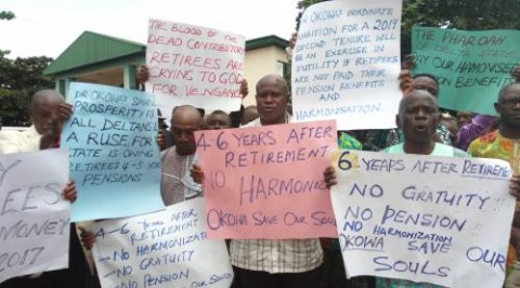 Pensioners protest over harmonization in delta