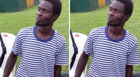 Police parade suspect for preparing human as meat