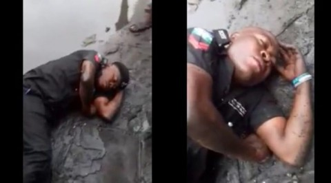 Social media users troll pictured drunken policeman