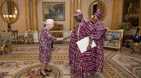 Queen Elizabeth II receives Nigeria's High Commissioner to the UK