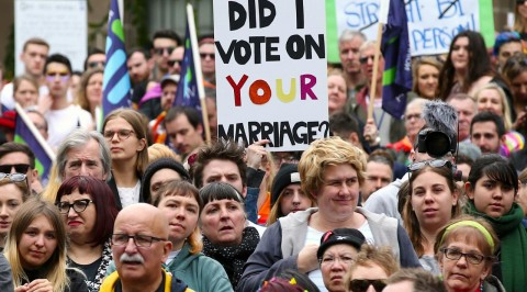 Thousands rally for gay marriage in Australia