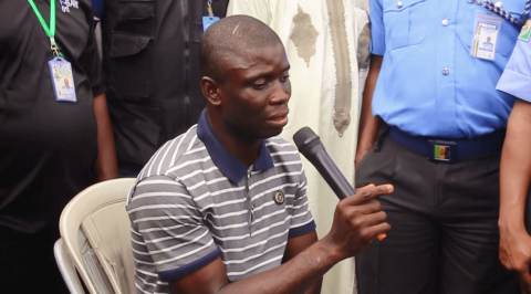 Rivers police command parade suspected serial killer
